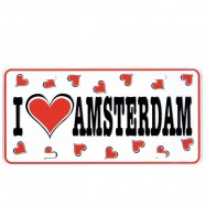 Love Amsterdam Hearts - Licence Plate