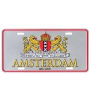 Kentekenplaat Amsterdam Wapen Zilver