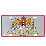 Licence Plates Wapen of Amsterdam Silver