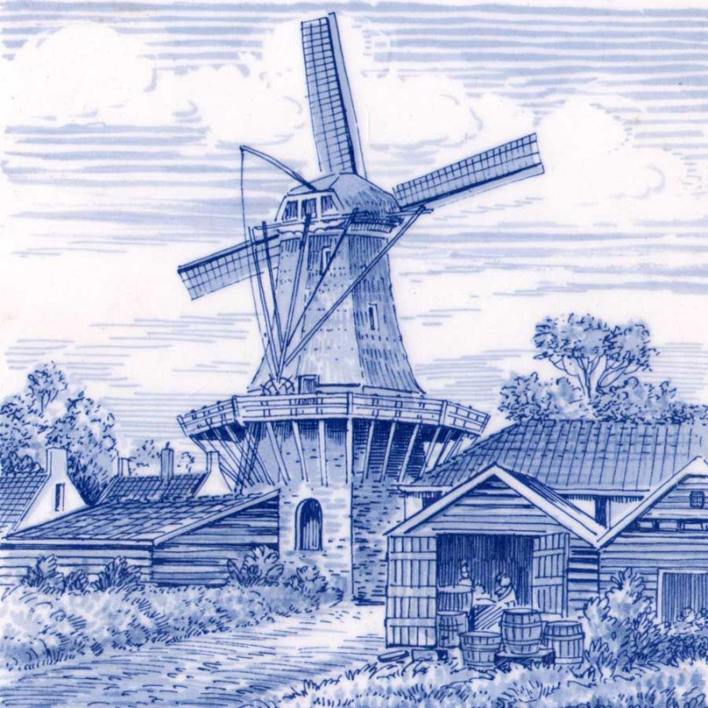 Tiles Windmill Barn - Tile 15x15 cm