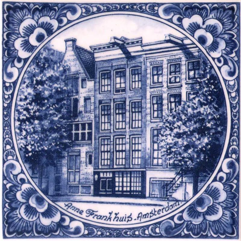 Rond Anne Frank - Tegel 15x15cm