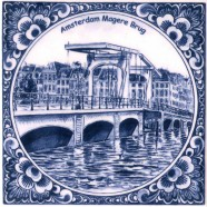 Round Magere Brug - Tile 15x15cm