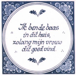 Tiles Saying Baas - Tile 15x15 cm