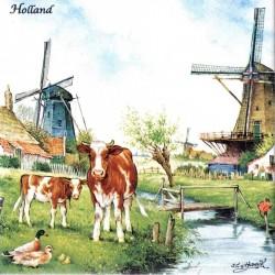 Gekleurd Keramiek Koeien - Tegel 15x15 cm - Kleur