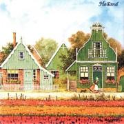 Colored Ceramics Tulip field- Tegel 15x15 cm