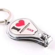 Metal Nail clipper - I Love Amsterdam - Keychain