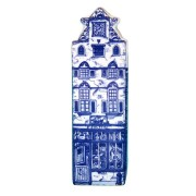 Delft Blue - Small Triangular Gable -  Canal House