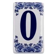 Plat Delfts Blauw Huisnummer 0 - Delfts Blauw