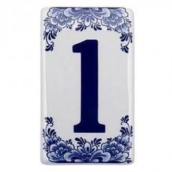 Flat Delft Blue Housenumber 1 - Delft Blue
