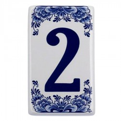Housenumber 2 - Delft Blue