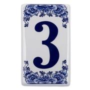 Flat Delft Blue Housenumber 3 - Delft Blue