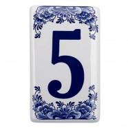 Housenumber 5 - Delft Blue