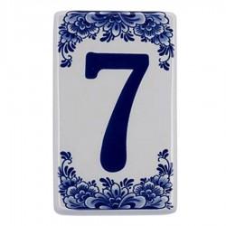 Plat Delfts Blauw Huisnummer 7 - Delfts Blauw