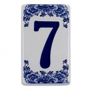 Housenumber 7 - Delft Blue