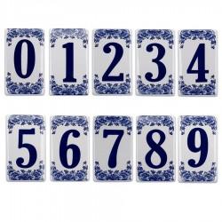 Flat Delft Blue Housenumber 8 - Delft Blue