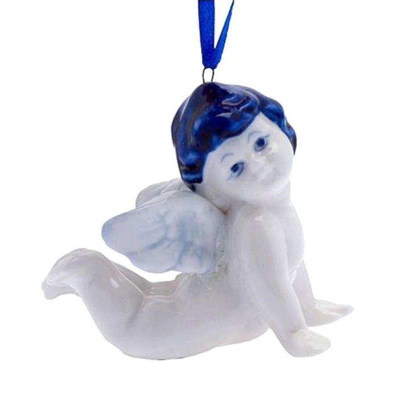 Angel Lying - X-mas Figurine Delft Blue