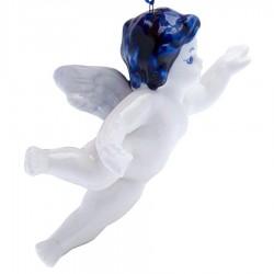 Kerstfiguren hangend Engel Vliegend - Kersthanger Delfts Blauw