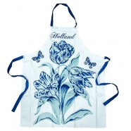 Keukenschort - Delfts Blauw Tulp