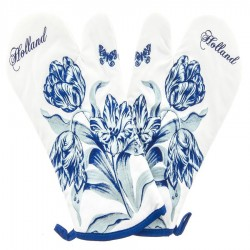 Kitchen textiles  Oven Mitts - Delft Blue Tulips