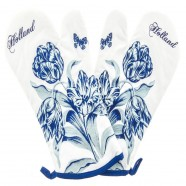 Oven Mitts - Delft Blue Tulips