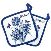 Keuken textiel Pannenlappen - Delfts Blauw Tulp