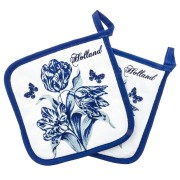 Kitchen textiles  Potholder - Delft Blue Tulips