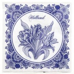 Napkins and Napkin Holders Tulips Napkins - Delft Blue