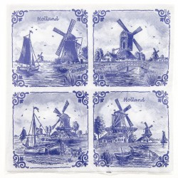Windmills 4x Napkins - Delft Blue