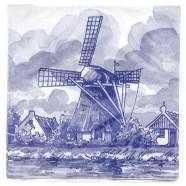 Windmolen Servetten - Delfts Blauw