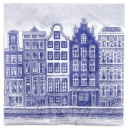 Canal Houses Napkins - Delft Blue