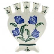 Tulpen Blauw Groen - Hart Tulpenvaas 18cm