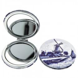 Windmill Delft Blue - Mirror Box Round