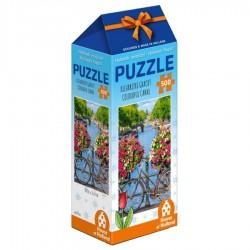 Puzzels - Legpuzzels Kleurrijke Amsterdamse Gracht - 500 stukjes Legpuzzel