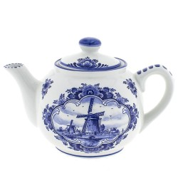 Teapot - Windmill Delft Blue