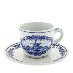 Serviesgoed Kop en Schotel - Molen Delfts Blauw