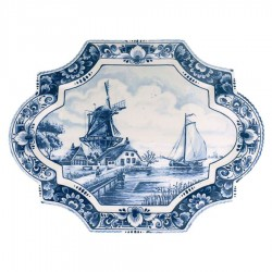 Applique - Wall Plates Applique Windmill - Medium 29 x 22 cm