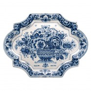 Applique - Wall Plates Applique Flowers - Medium 29 x 22 cm