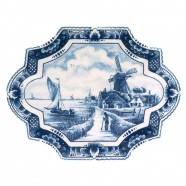 Applique - Wall Plates Applique Windmill - Small 23 x 18 cm