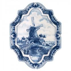 Applique - Wall Plates Applique Windmill - Small Vertical 18 x 23 cm