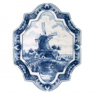 Applique - Wall Plates Applique Windmill - Small Vertical 18 x 23 cm