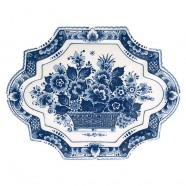 Applique - Wall Plates Applique Flower - Small 23 x 18 cm