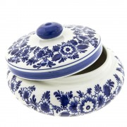 Pots Jars and Boxes Pot Windmill Round - 18cm Delft Blue