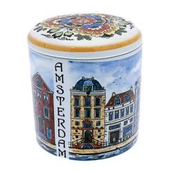 Pots Jars and Boxes Storage Pot Jar Canal Houses - 13cm Polychrome
