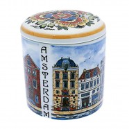 Storage Pot Jar Canal Houses - 13cm Polychrome