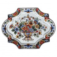 Applique - Wall Plates Applique Flowers Polychrome - Medium 29 x 22 cm