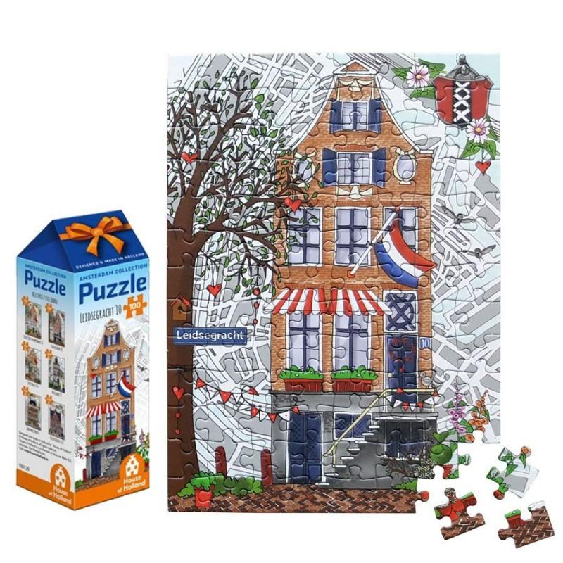Grachtenhuis nr 2 - 100 stukjes Legpuzzel