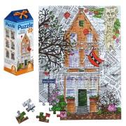 Puzzels - Legpuzzels Grachtenhuis nr 1 - 100 stukjes Legpuzzel