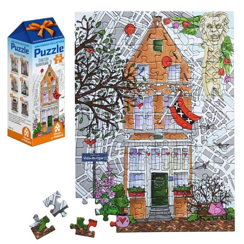 Grachtenhuis nr 1 - 100 stukjes Legpuzzel