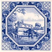 Tegels Achthoek Vissr - Tegel 15x15 cm