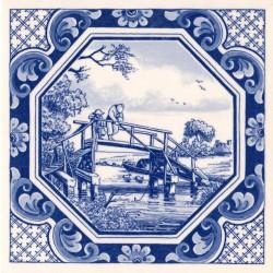Octagon Fisherman - Tile 15x15cm